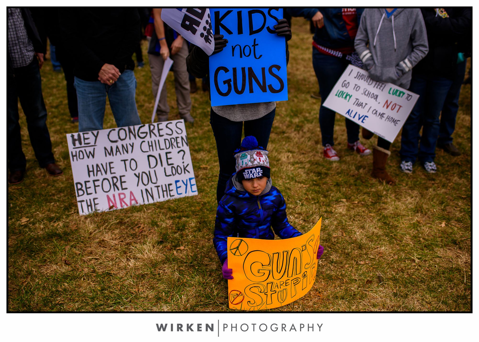 March for our Lives Kansas City. Theis Park near the Plaza.