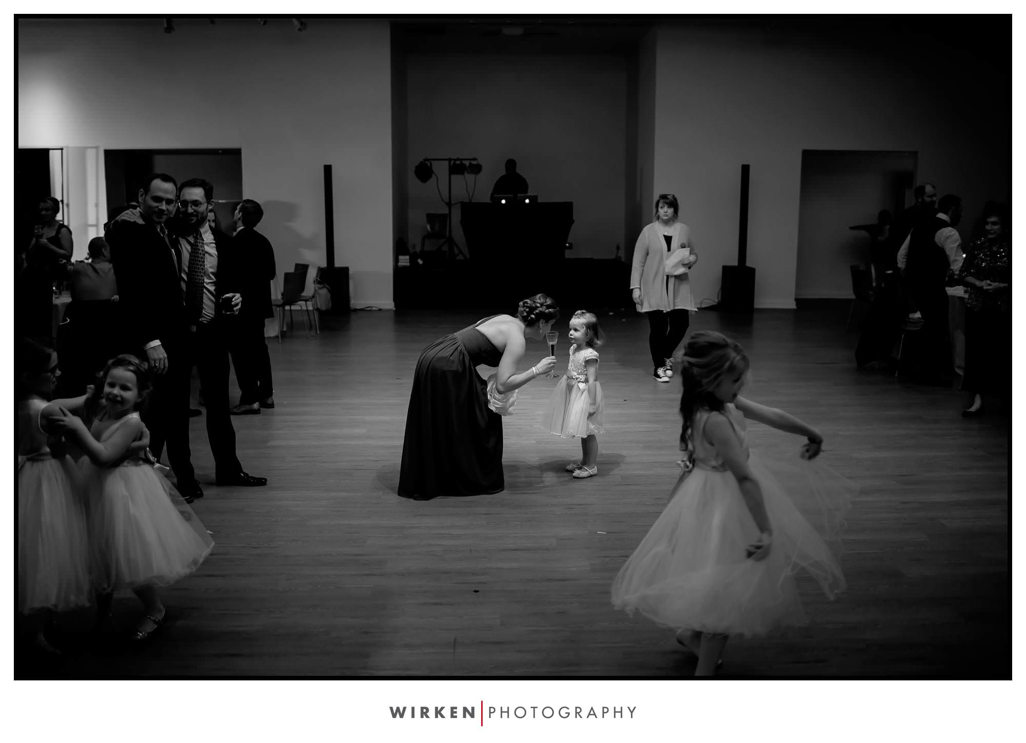 Toasting a flower girl.