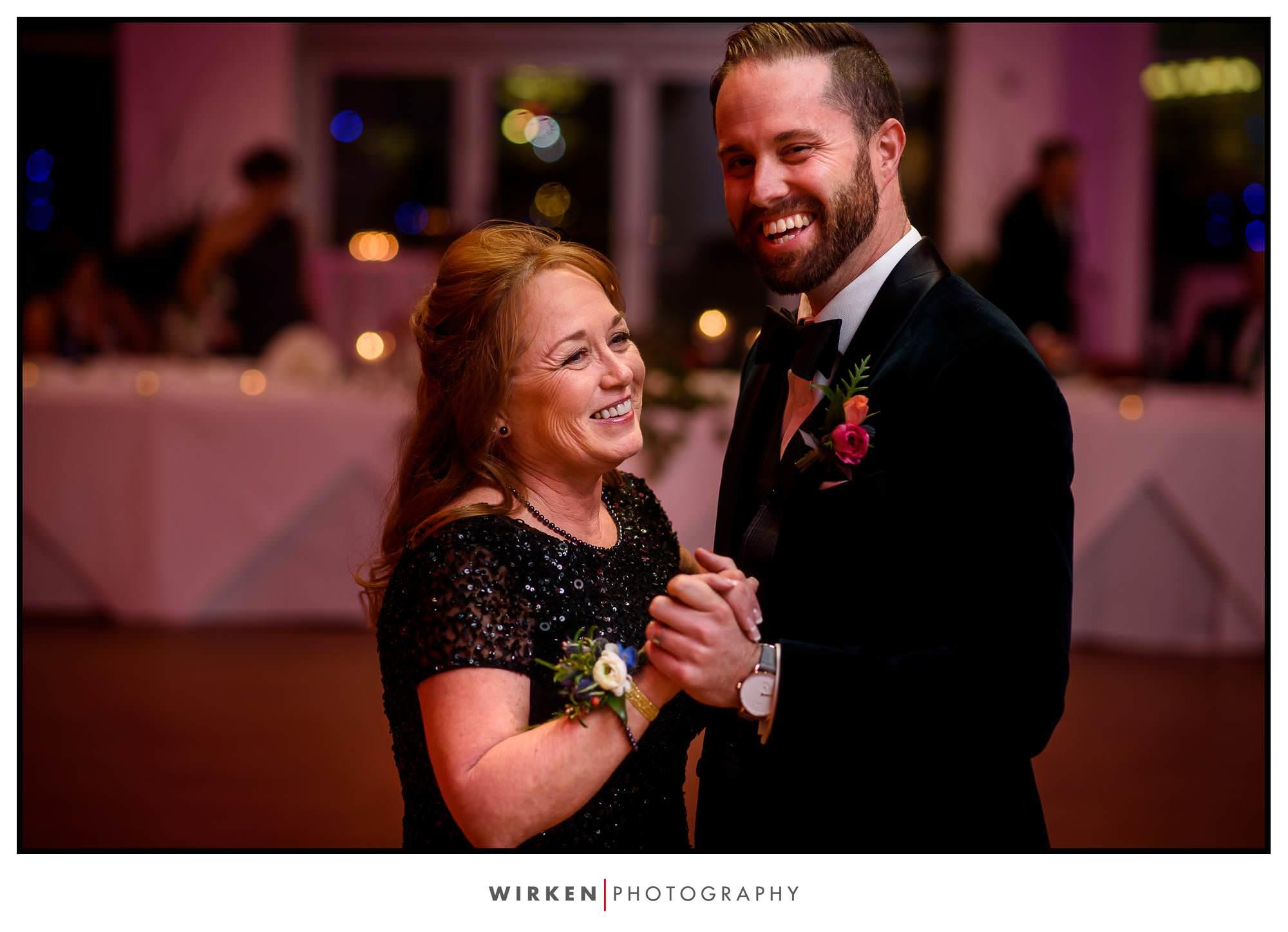 Ryan dances with his mom.