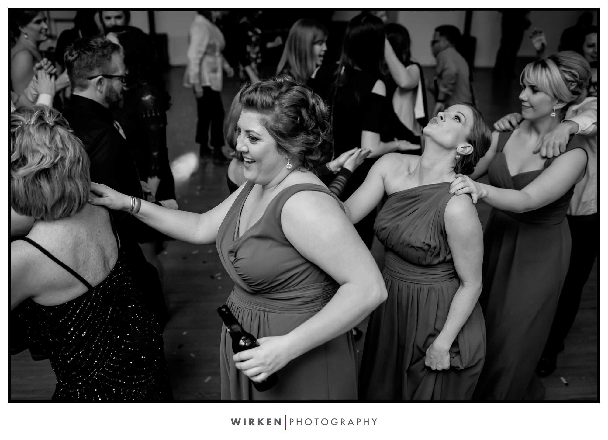 Conga line at Leah and Ryans wedding reception.