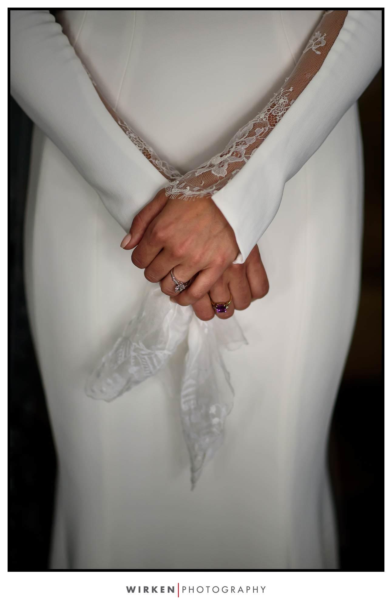 Trinidad, California Weddings. Bride in gownl