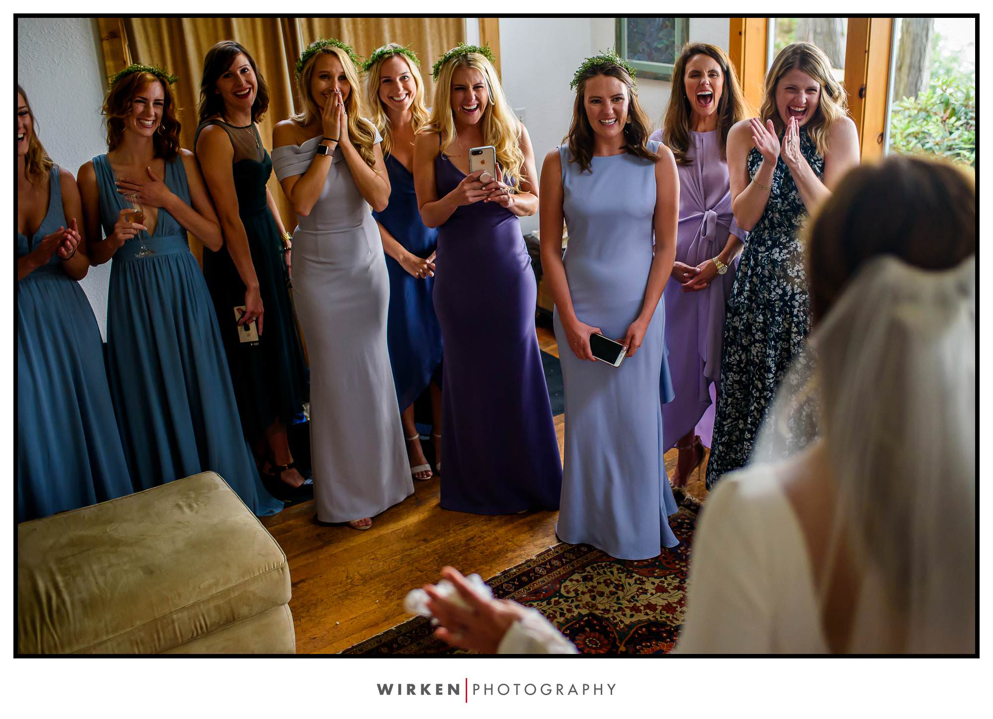 Bride reveal at Lost Whale Inn wedding