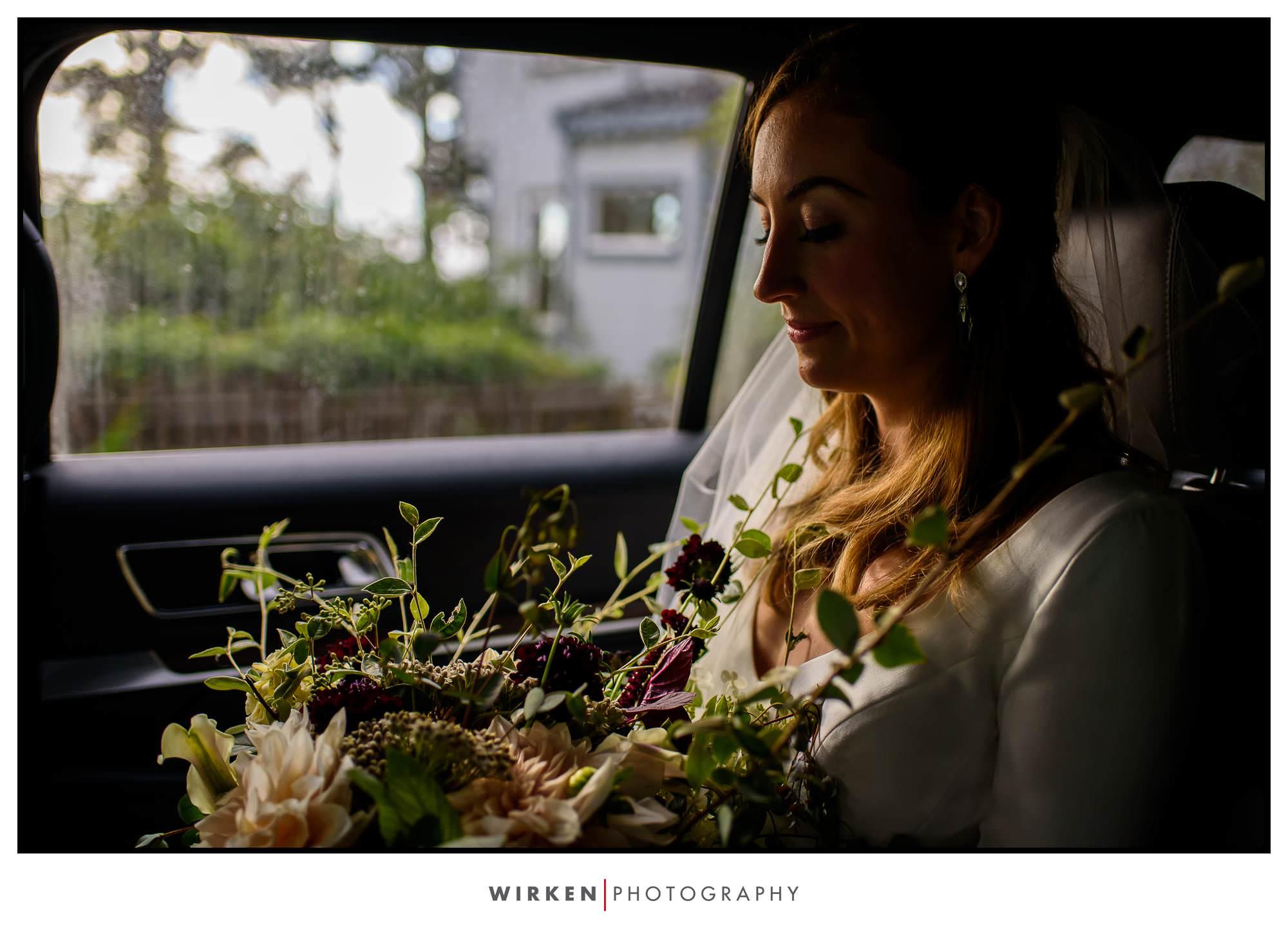 Bride at Wedding Rock in Trinidad, California