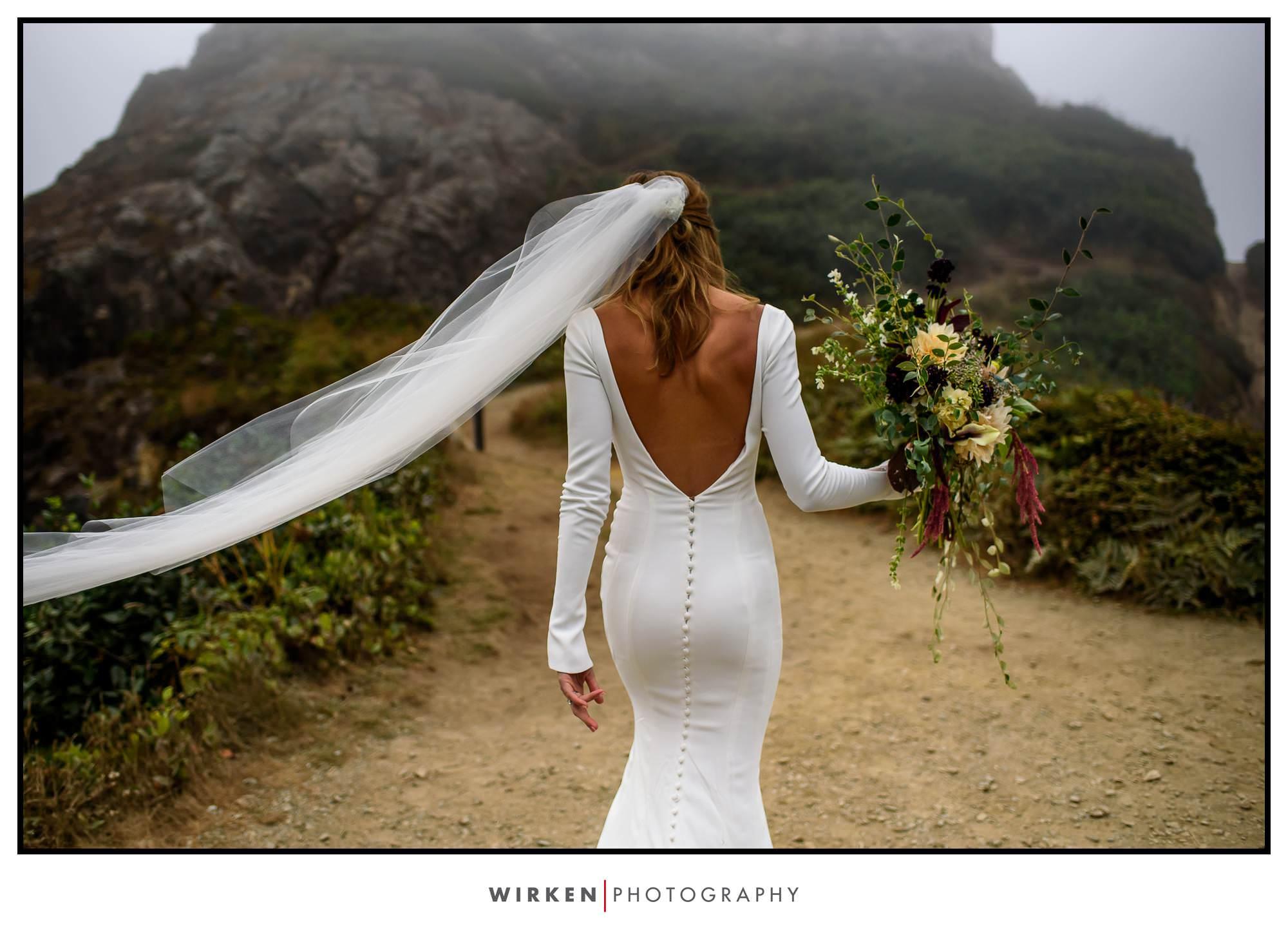 Wedding Rock Patrick's Point State Park wedding ceremony