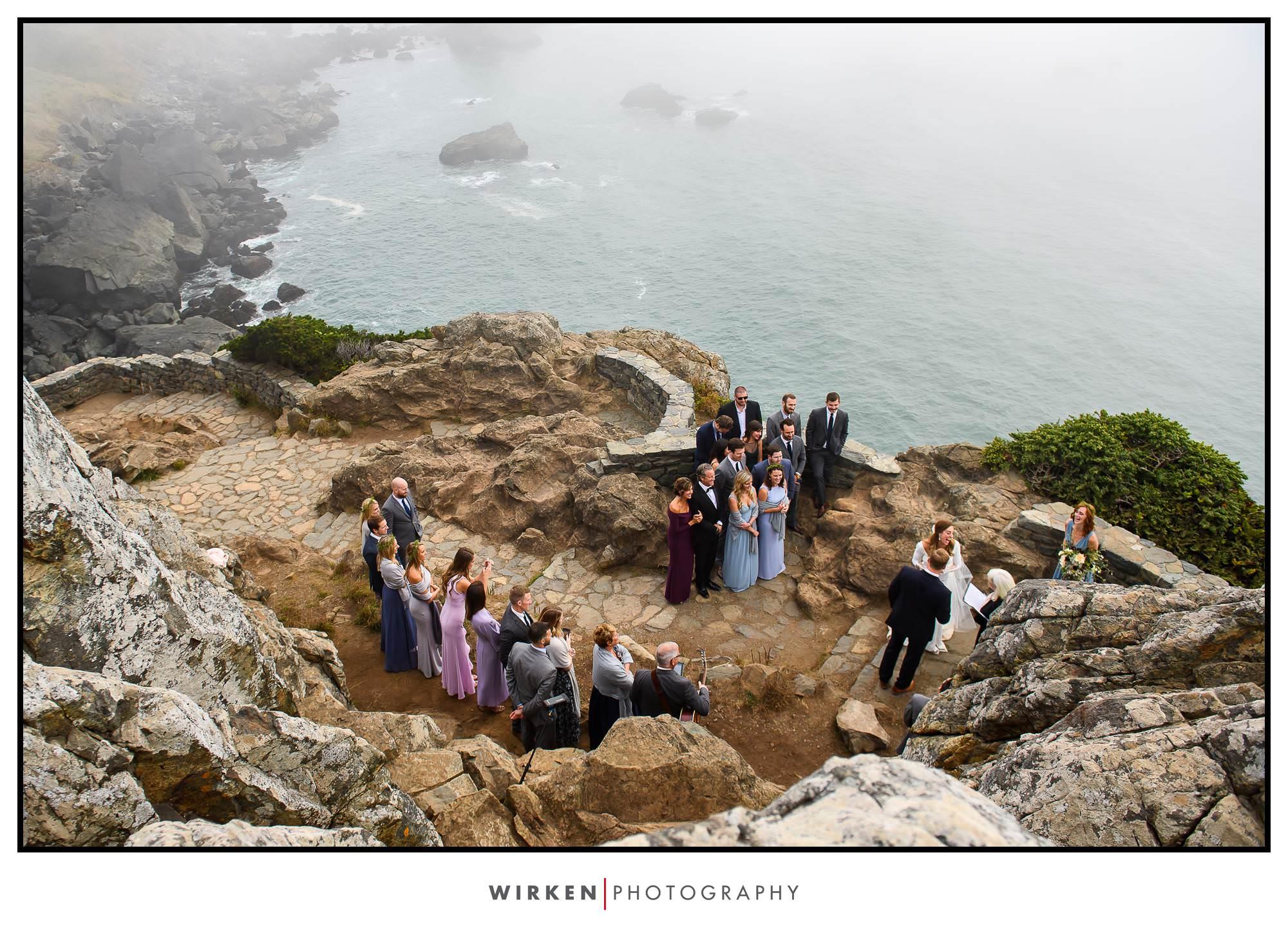Patrick's Point Park wedding ceremony on Wedding Rock