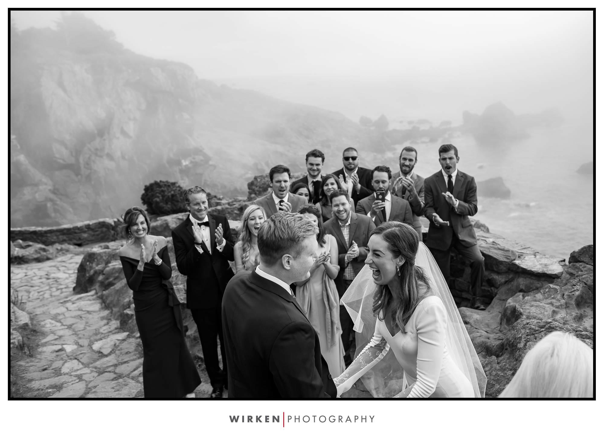 Patrick's Point Park wedding on Wedding Rock