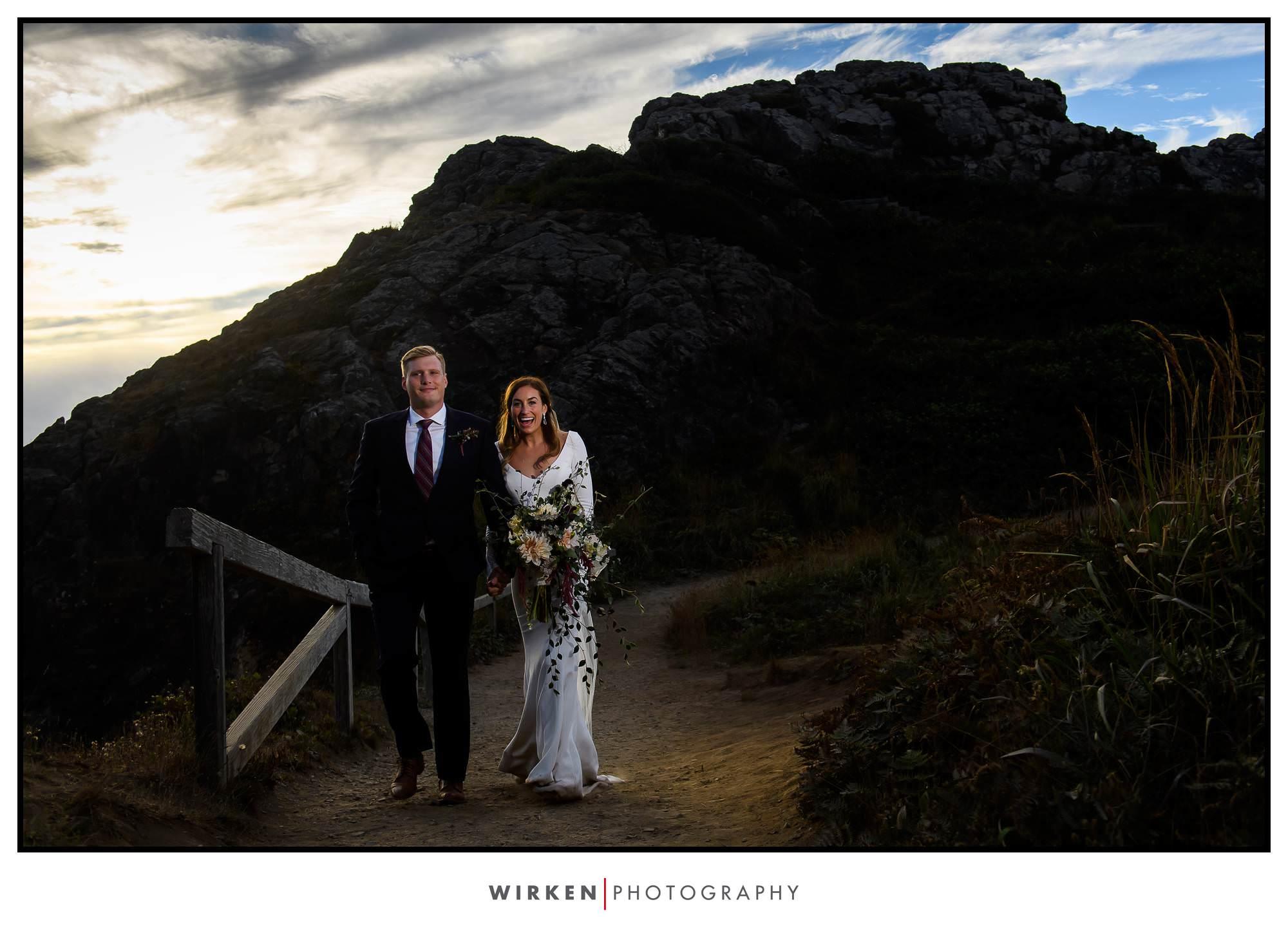 Adventure wedding at Patrick's Point Park Wedding Rock