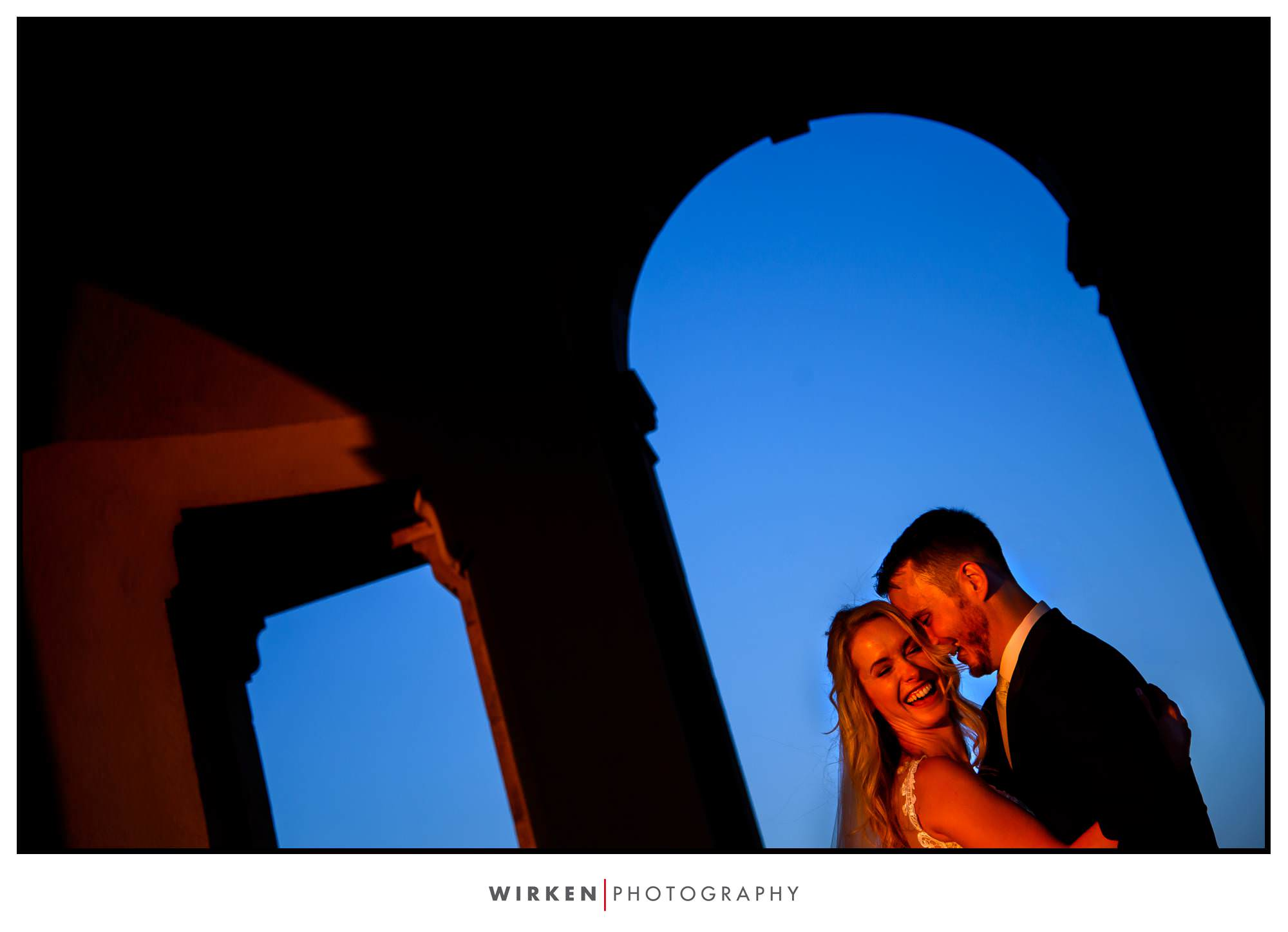 Couple at Sunset at Unity Village for their Kansas City wedding