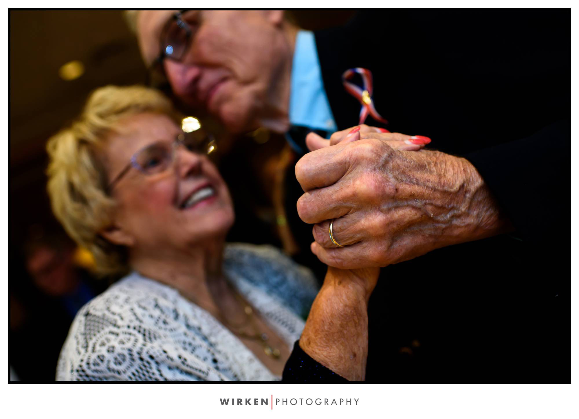 grandparents dancing at kansas city wedding reception
