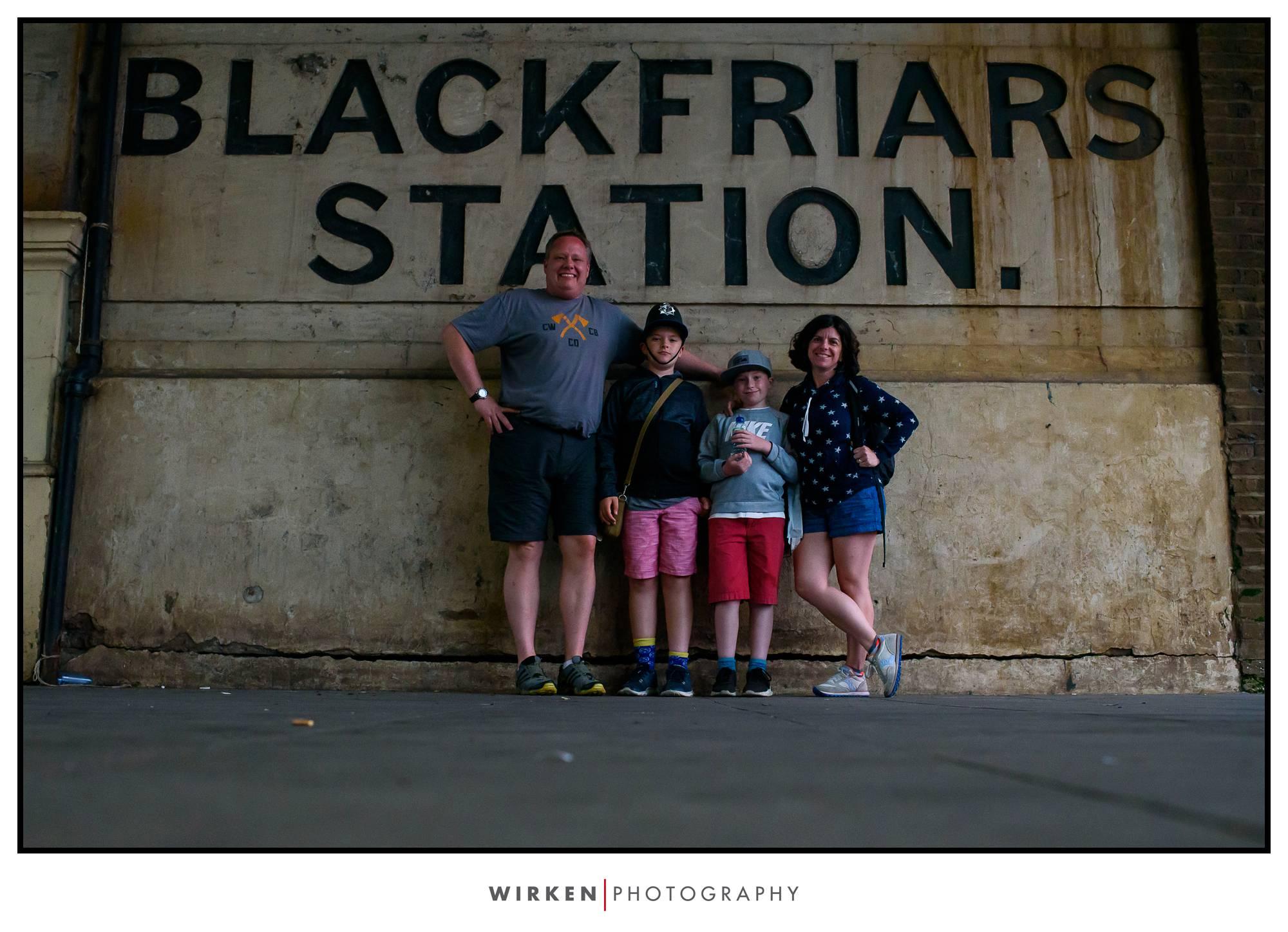 Blackfriars station family travel photography