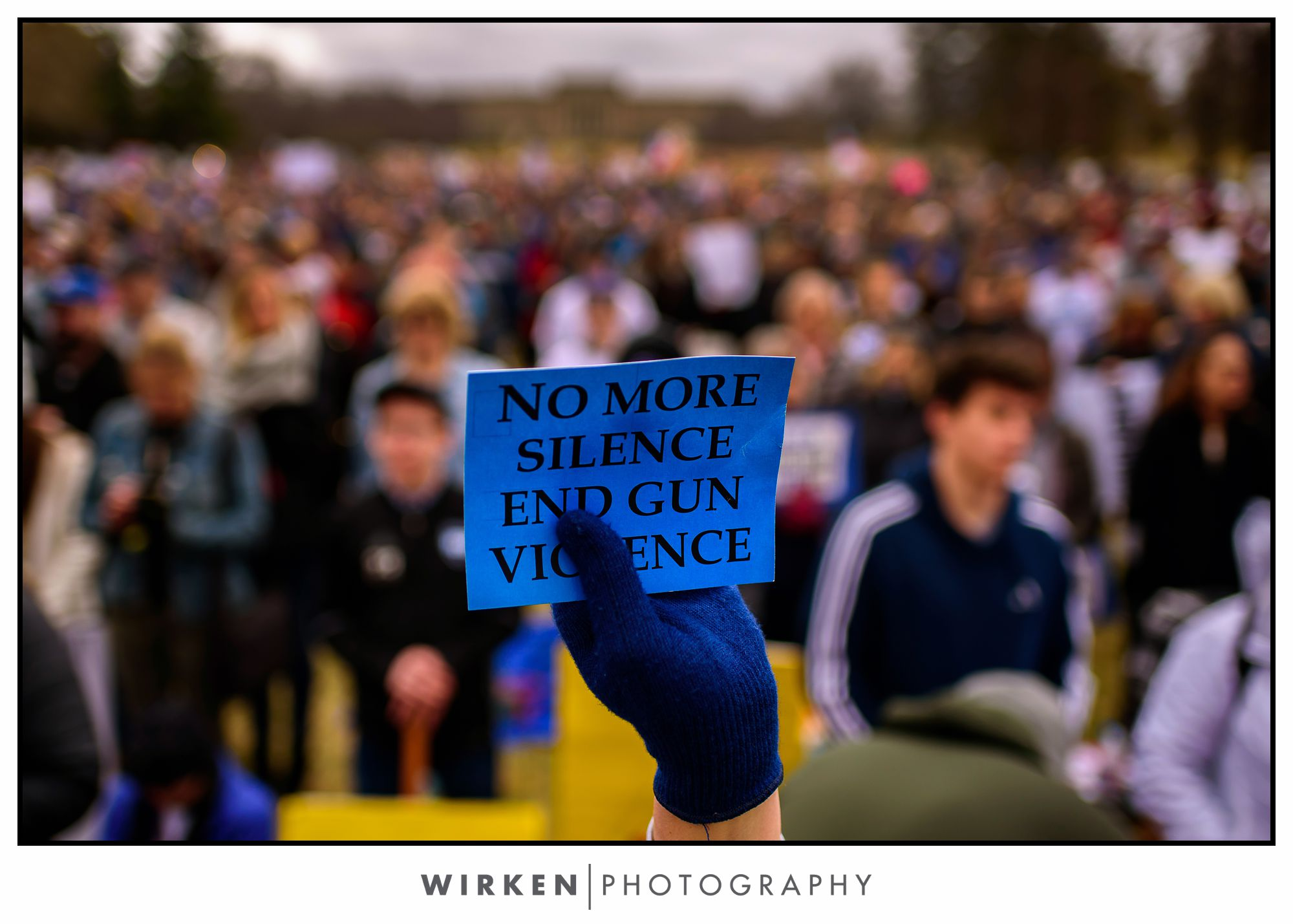 March for our Lives Kansas City rally. Theis Park. No more silence. End gun violence.