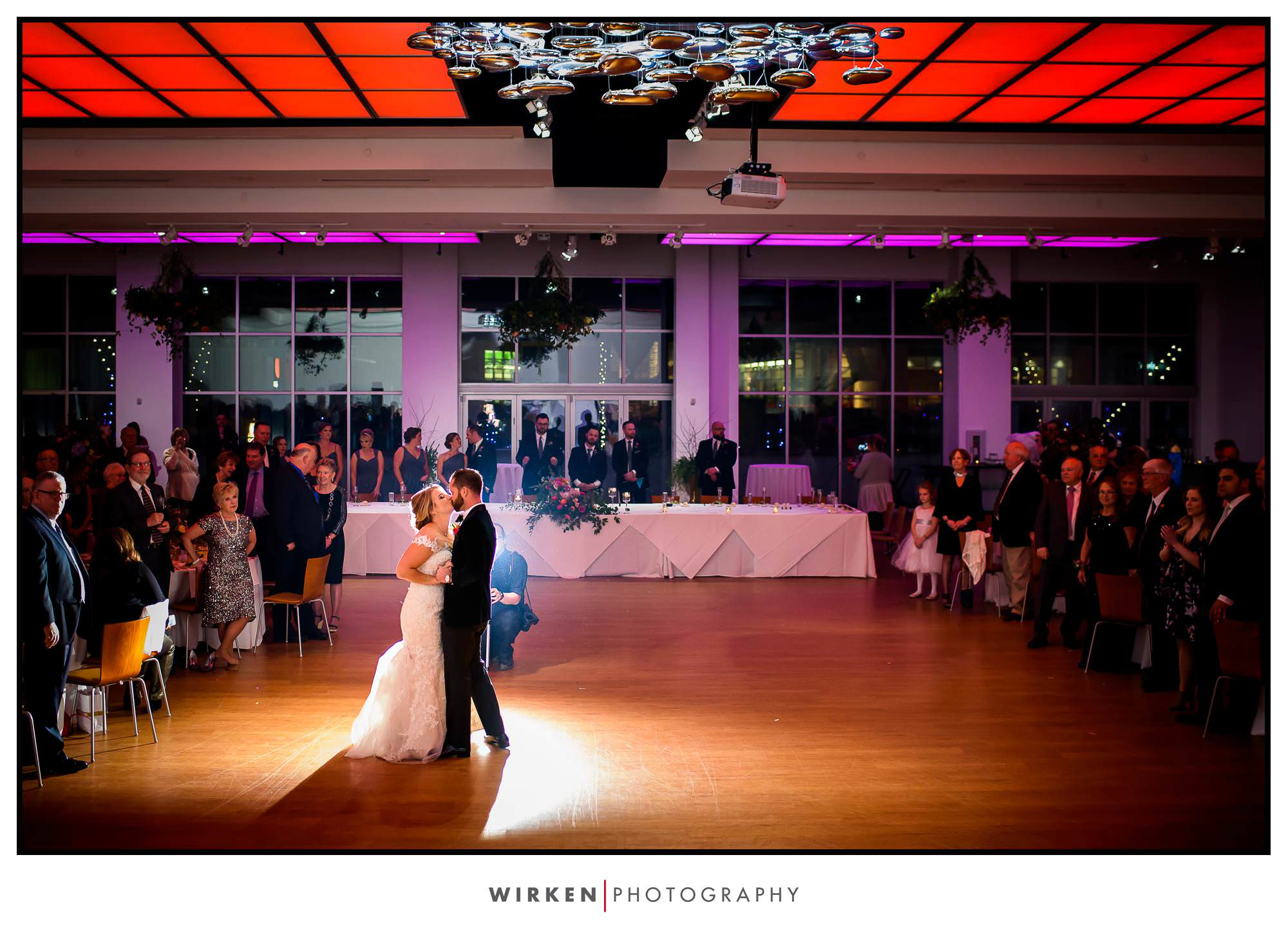Ryan and Leah share their first dance at the Gallery Event Center.