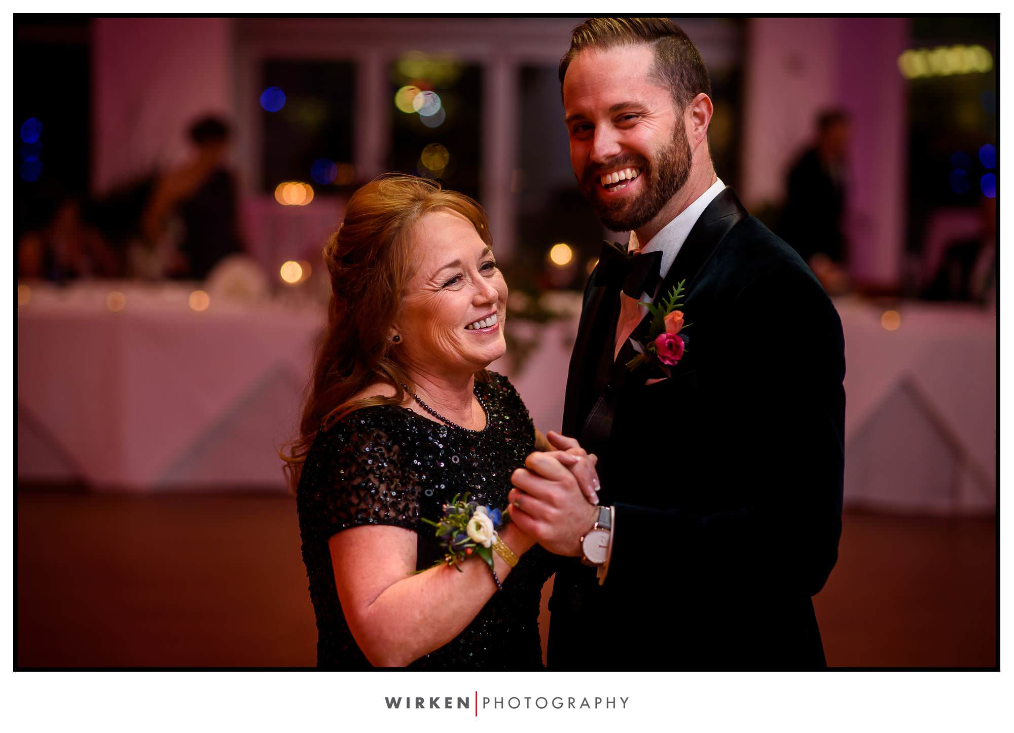 Ryan dances with his mom.