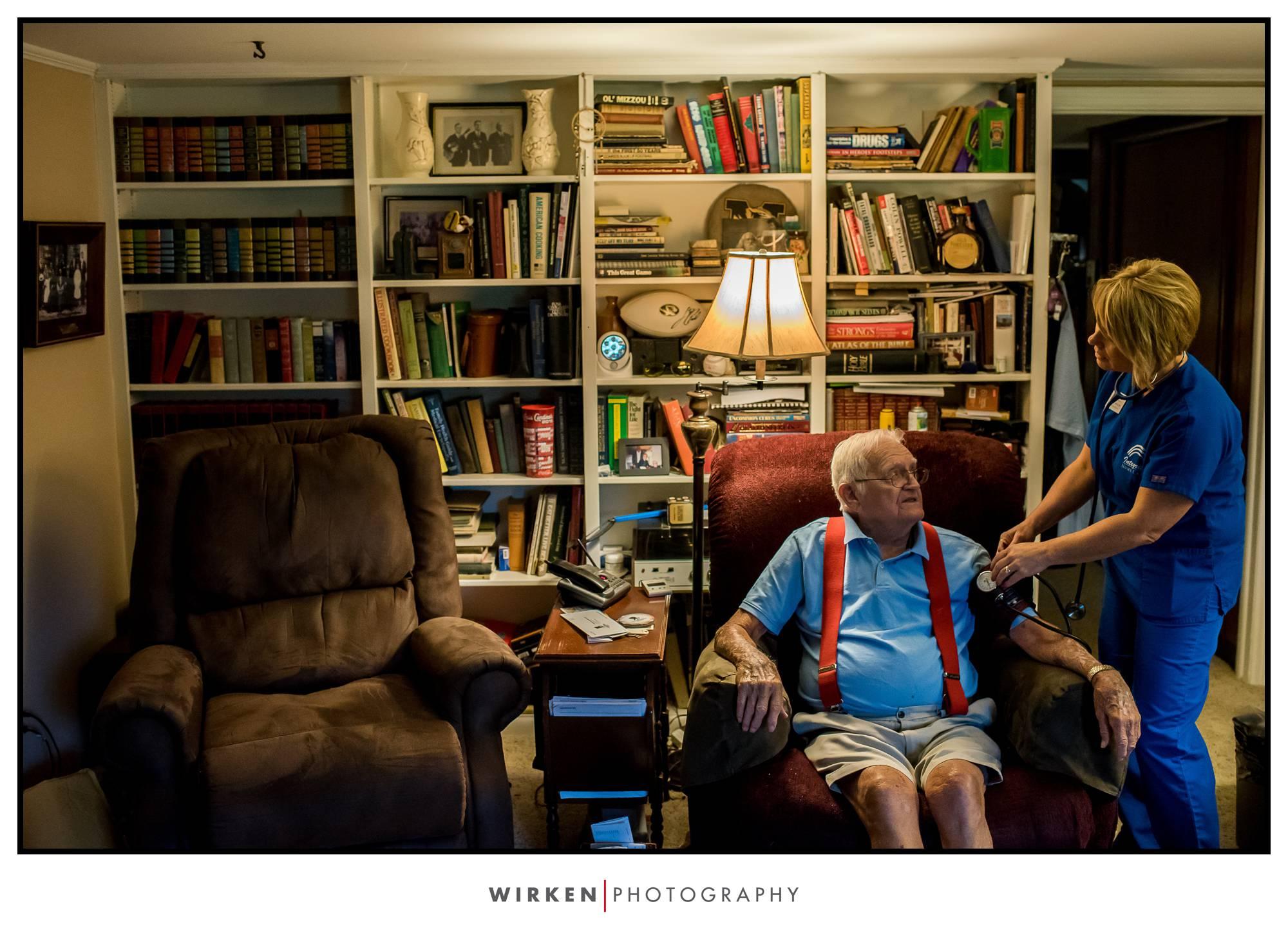 Commercial Photographer Tyler Wirken of Wirken Photo documents Integrity Homecare in Kansas City