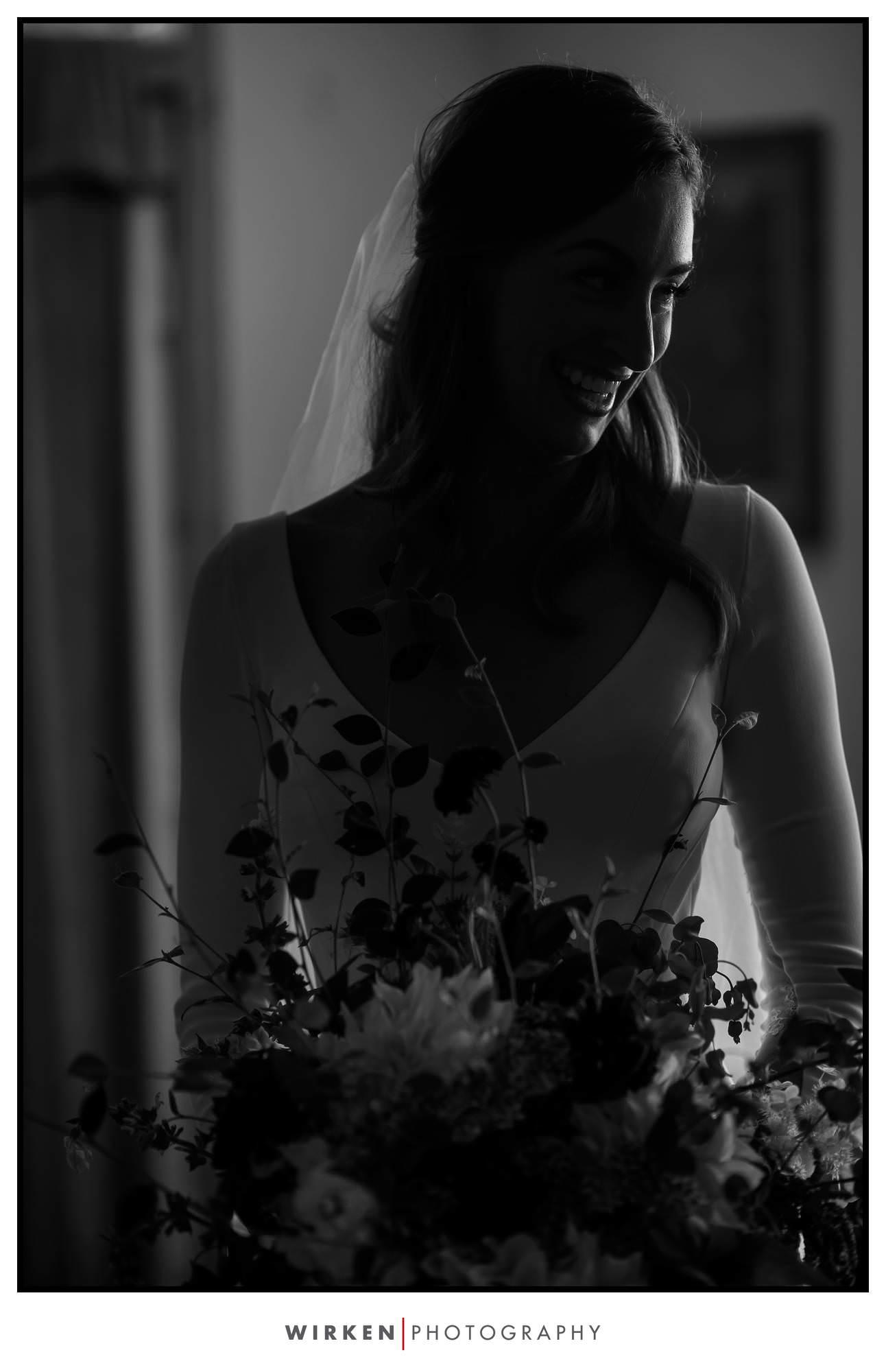 Lost Whale Inn wedding reception bride california