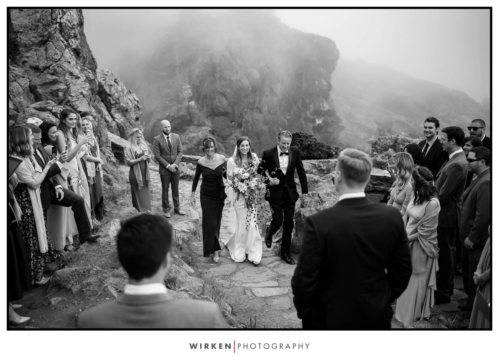 Wedding Rock Patrick's Point State Park wedding ceremony on rock