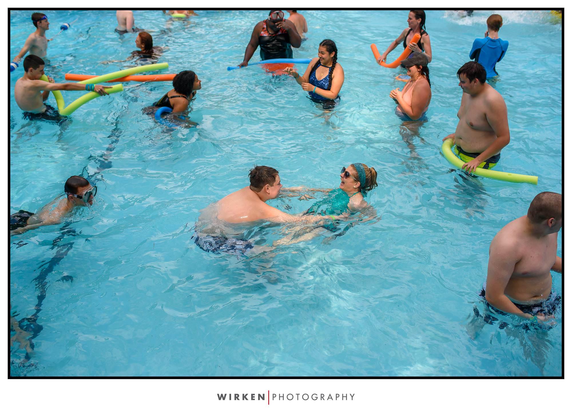 Camp Encourage autism spectrum disorder summer camp swimming pool