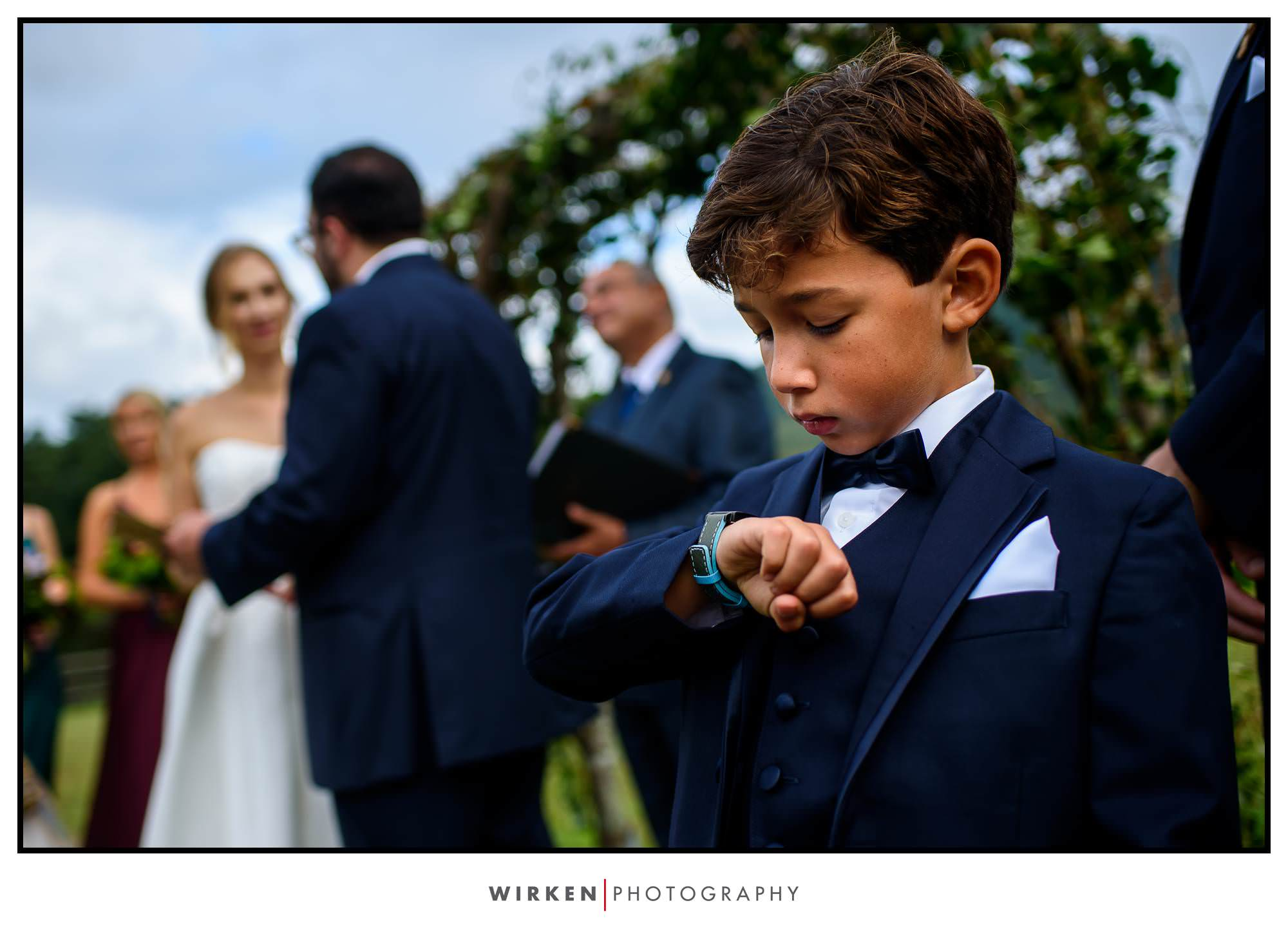 Claxton Farm Wedding ring bearer