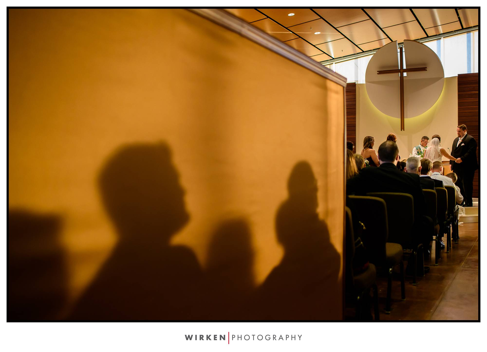 bride, groom, and guests at this kansas city wedding ceremony