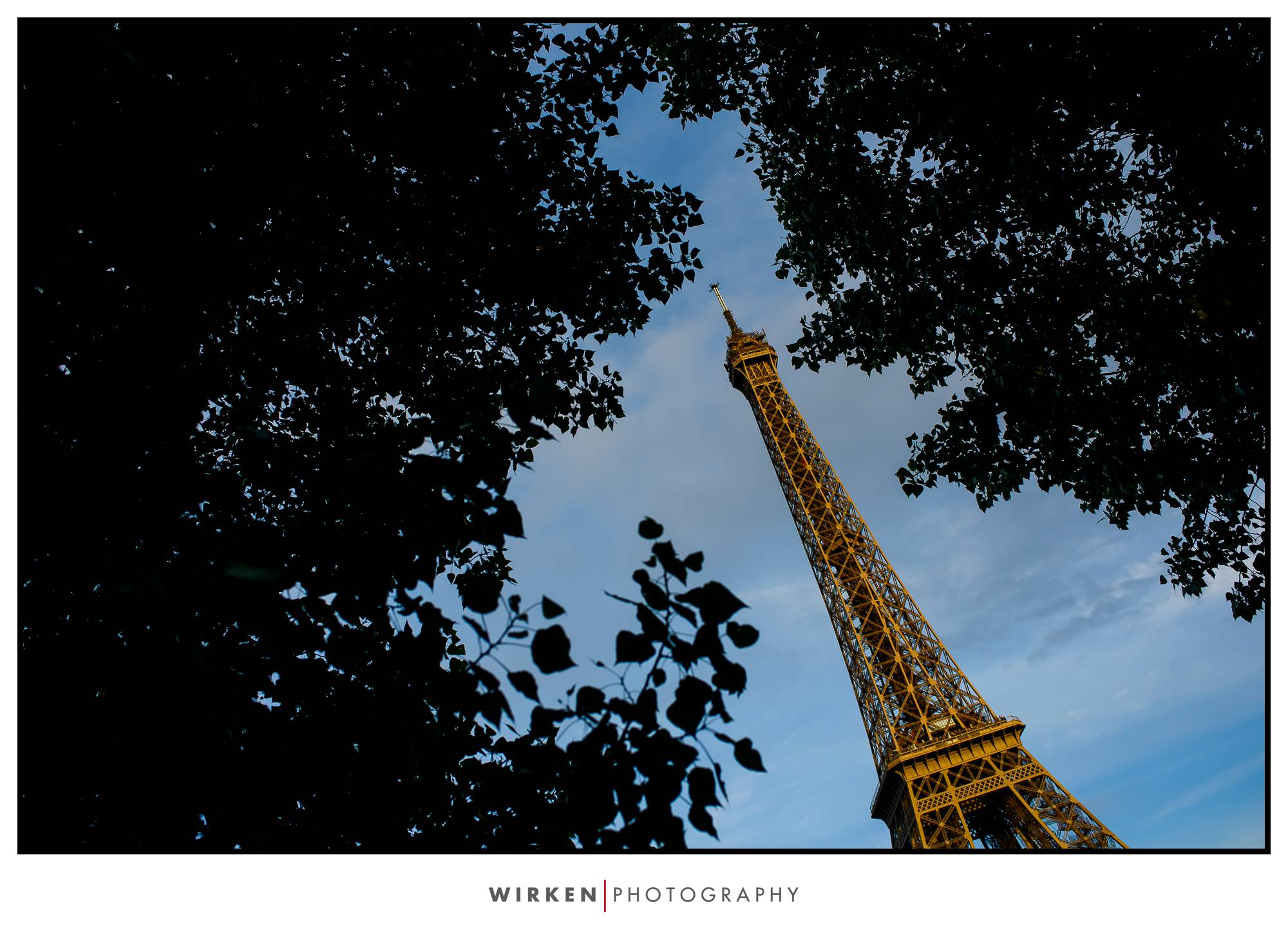 eiffel tower in france on famliy vacation